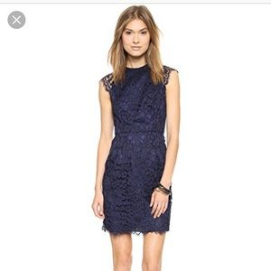 Navy Shoshanna Mariah lace dress